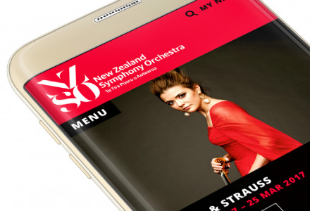 NZ Symphony Orchestra website design