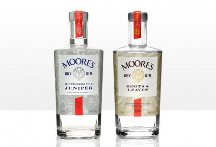 Moore's gin labels
