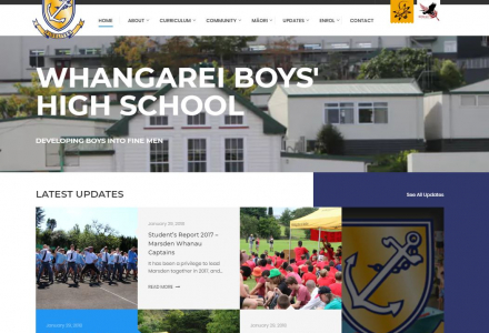 High School webpages and testimonials for re-brand