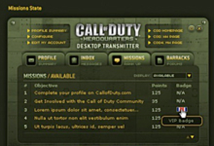 Activision: Call of Duty, World At War Desktop Application