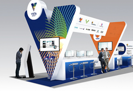 International Exhibition Stand - technical design and illustration