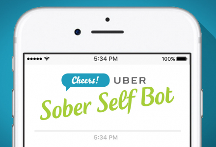 Cheers! UBER 'Sober Self' chat bot