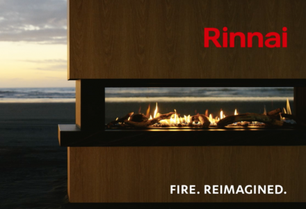 Rinnai 'Fire. Reimagined.'